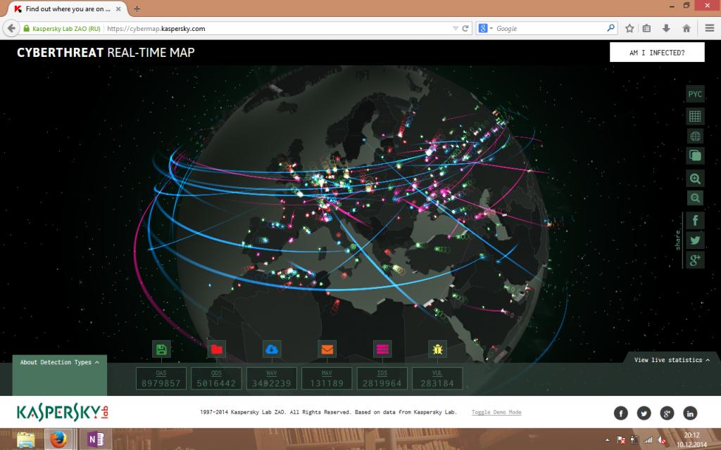 Screenshot Kaspersky Globe