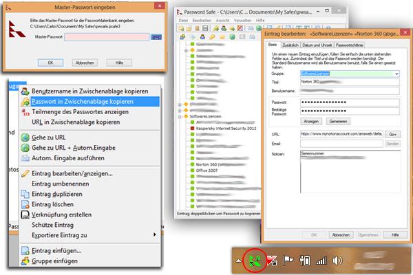 Screenshot PasswortSafe