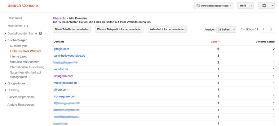 Screenshot google search Verlinkung