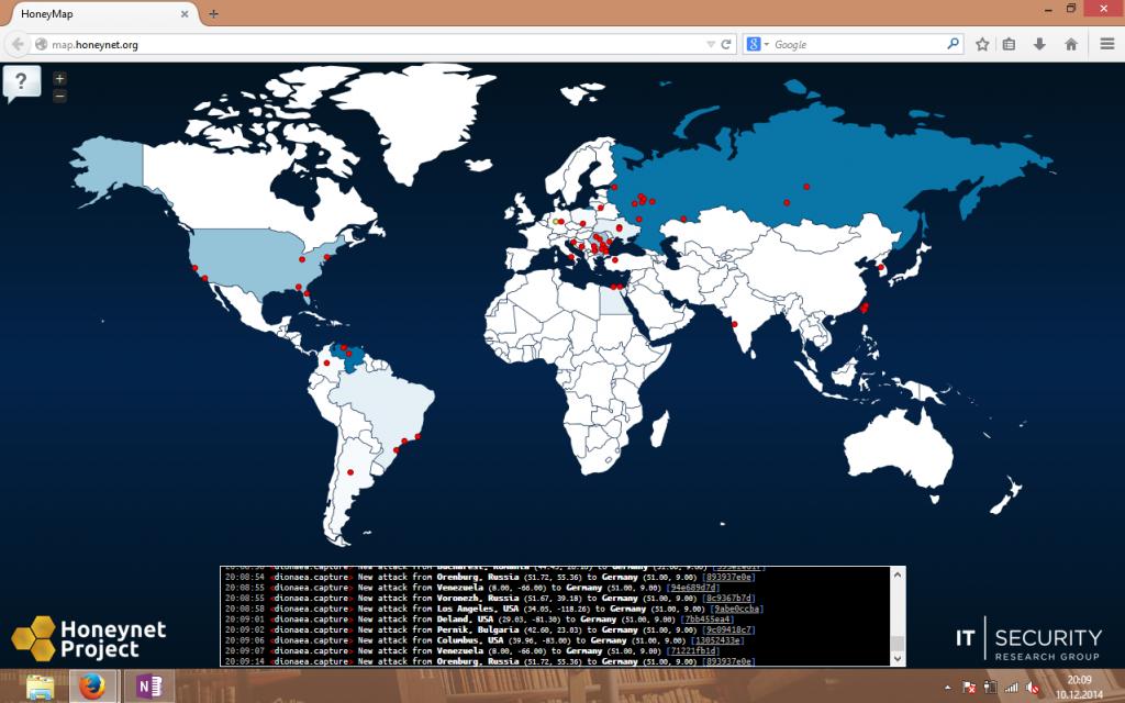 Screenshot Honeynet